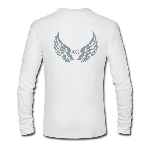Men's/LS round neck/ Large AG Logo in silver flex print on back - Men's Long Sleeve T-Shirt by Next Level