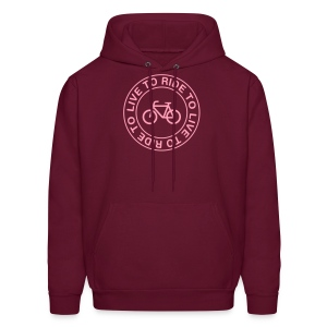 Live To Ride To Hoodie - Men's Hoodie