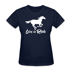 Live to Ride Horse Tee - Women's T-Shirt