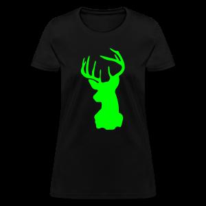 Lime Green Deer Silhouette - Women's T-Shirt