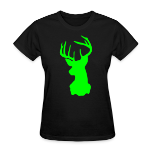 Lime Green Deer Silhouette - Women's T-Shirt