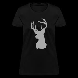 Silver Sparkle Deer Silhouette - Women's T-Shirt