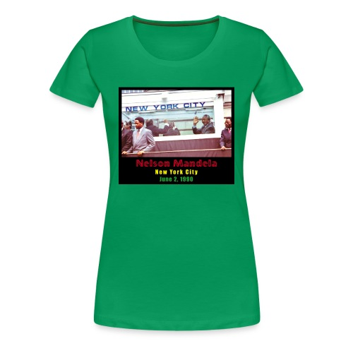 Nelson Mandela in New York City - Women's Premium T-Shirt