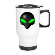 Mugs & Drinkware ~ Travel Mug ~ Alien Bug Face Green Eyes