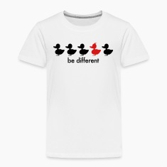 be different cute duck iroquoise ducklings Baby & Toddler Shirts