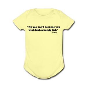 Baby Bondy Fish - Short Sleeve Baby Bodysuit