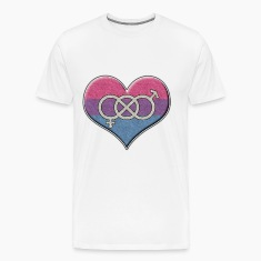 Bisexual Pride Heart with Gender Knot T-Shirts