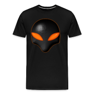 T-Shirts ~ Men's Premium T-Shirt ~ Alien Bug Face - Orange Eyes