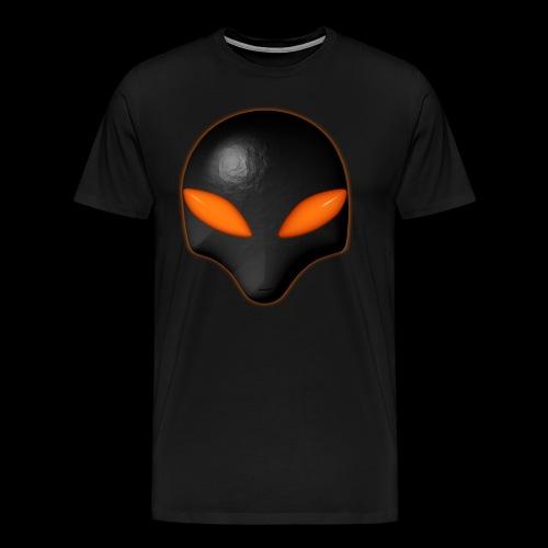 Alien Bug Face - Orange Eyes  - Men's Premium T-Shirt