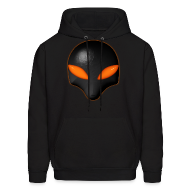 Hoodies ~ Men's Hoodie ~ Alien Bug Face - Orange Eyes