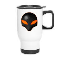 Mugs & Drinkware ~ Travel Mug ~ Alien Bug Face - Orange Eyes
