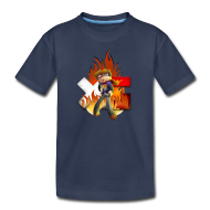 Kids' Shirts ~ Kids' Premium T-Shirt ~ Kid's Navy Fire Dan T-Shirt