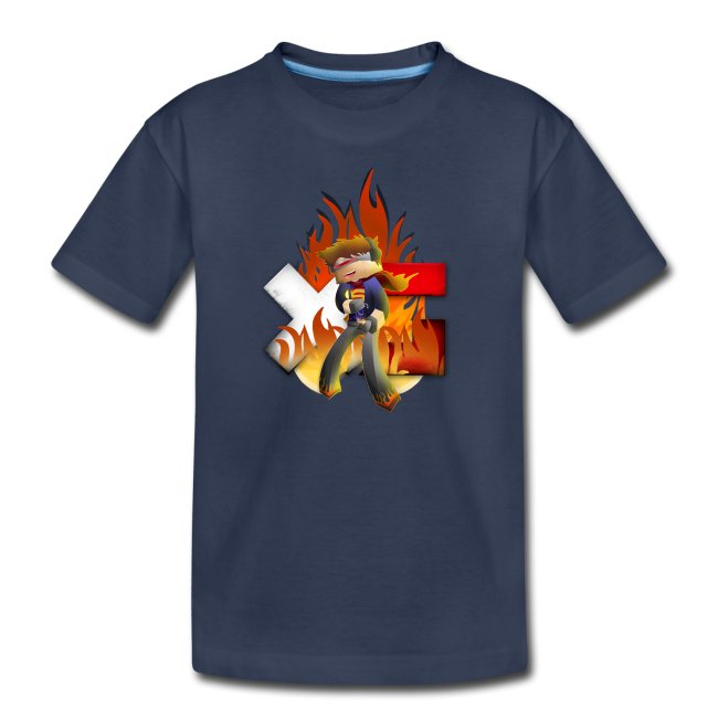 Kid's Navy Fire Dan T-Shirt