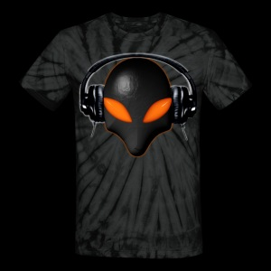 Alien Bug Face Orange Eyes in DJ Headphones