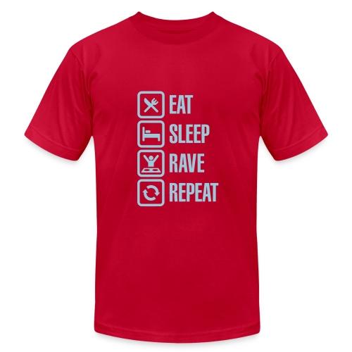 Eat,Sleep,Rave,Repeat T-Shirt - Men's Fine Jersey T-Shirt