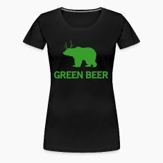 Green Beer (Bear/Deer) Women's T-Shirts