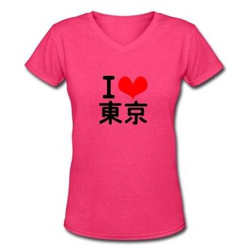 I Love Tokyo - Women's V-Neck T-Shirt