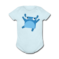 Baby Bodysuits ~ Baby Short Sleeve One Piece ~ Little Blue Baby Outfit