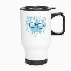 hipster tiger with glasses Bottles & Mugs