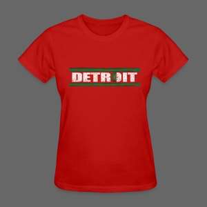 Algerian Detroit National Flag - Women's T-Shirt