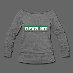 Algerian Detroit National Flag - Women's Wideneck Sweatshirt
