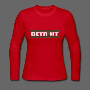 Algerian Detroit National Flag - Women's Long Sleeve Jersey T-Shirt