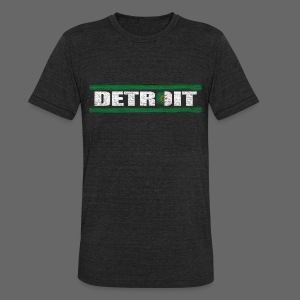 Algerian Detroit National Flag - Unisex Tri-Blend T-Shirt by American Apparel