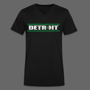 Algerian Detroit National Flag - Men's V-Neck T-Shirt by Canvas
