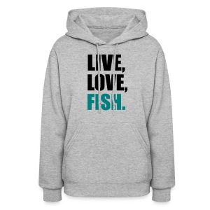 Ladies Sweatshirt - FIshing - Women's Hoodie