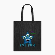 Star Child Fluffy Monster Bags & backpacks