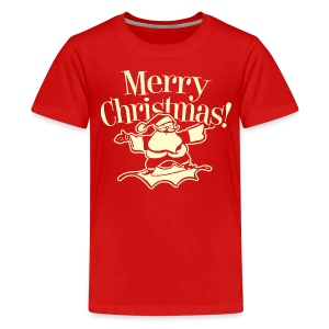 Merry Christmas Santa - Kids - Red - Kids' Premium T-Shirt