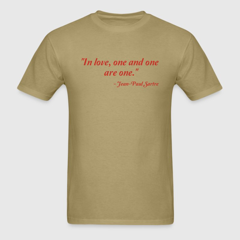 Jean-Paul Sartre on Love T-Shirts - Men's T-Shirt