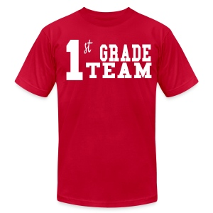 1st Grade Team-Customize Back With Name MENS  - Men's T-Shirt by American Apparel