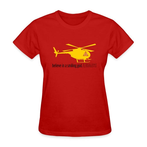 Yellow Helicopters Over the Desert - Women's T-Shirt