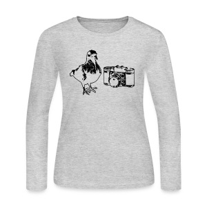 Pigeon Camera Long-Sleeve (W) - Women's Long Sleeve Jersey T-Shirt