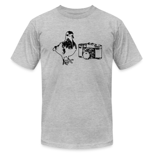 'Pigeon Camera' Tee - Men's T-Shirt by American Apparel