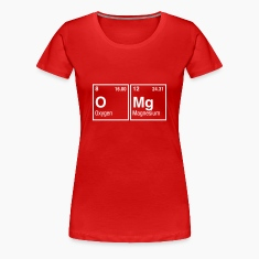 OMg written with Elements of the Periodic Table Women's T-Shirts