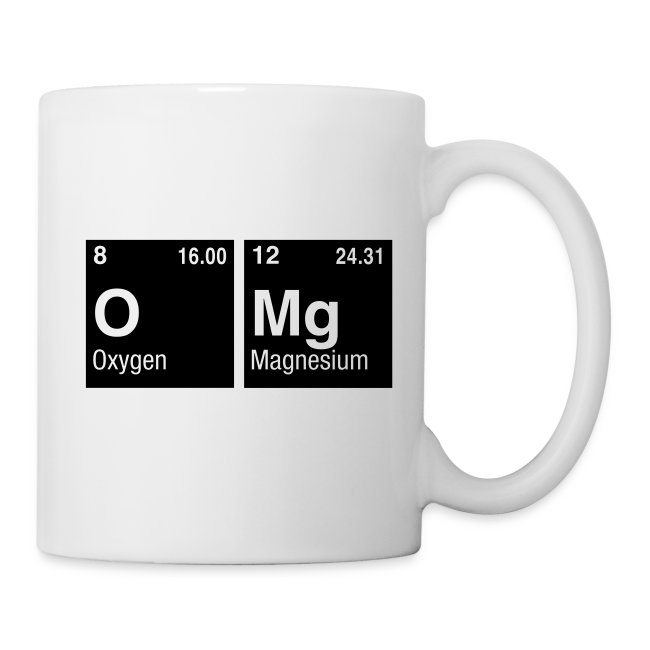 Coffee Tea Mug Written With Elements Of The Periodic Table