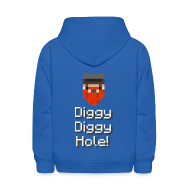 Sweatshirts ~ Kids' Hooded Sweatshirt ~ Kids Hoodie: Diggy Diggy Hole