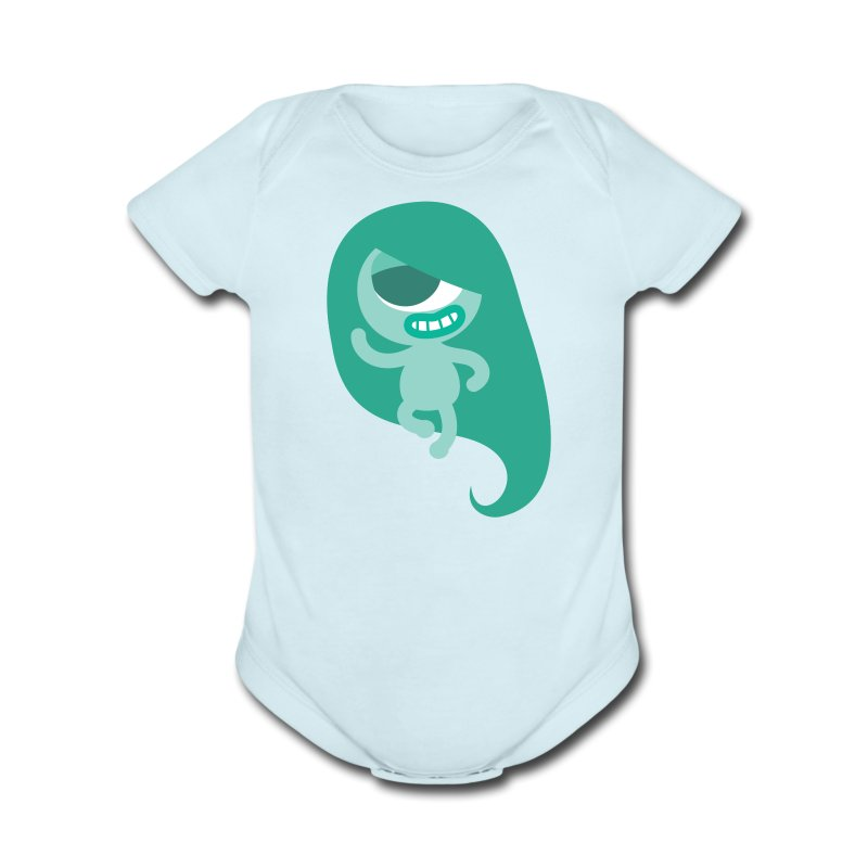 Yoshi Baby Outfit - Short Sleeve Baby Bodysuit