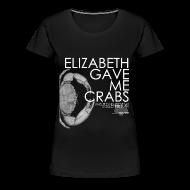 T-Shirts ~ Women's Premium T-Shirt ~ Crabs! (Ladies, White Text)