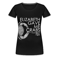 Women's T-Shirts ~ Women's Premium T-Shirt ~ Crabs! (Ladies, White Text)