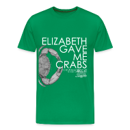 T-Shirts ~ Men's Premium T-Shirt ~ Crabs! (Mens, White Text)