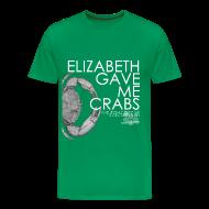 T-Shirts ~ Men's Premium T-Shirt ~ Crabs! (Mens, White Text)