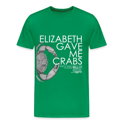 Crabs! (Mens, White Text) - Men's Premium T-Shirt