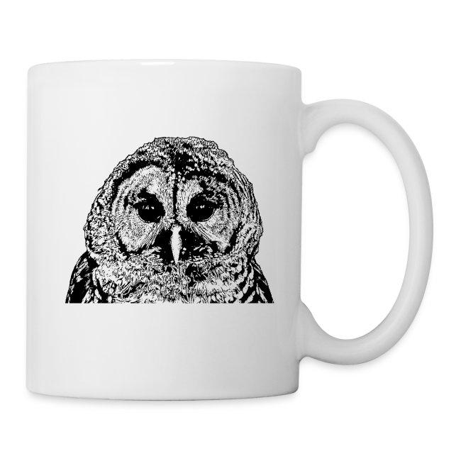 Double Graphic Barred Owl Couple - Coffee Mug