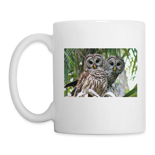 Double Graphic Barred Owl Couple - Coffee Mug - Coffee/Tea Mug