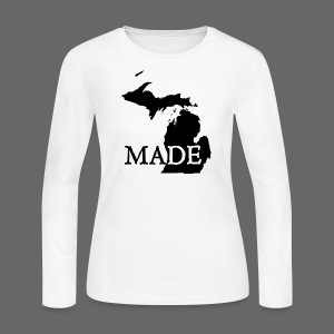Michigan Made - Women's Long Sleeve Jersey T-Shirt
