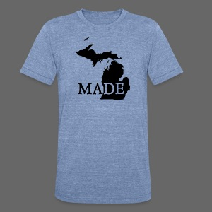 Michigan Made - Unisex Tri-Blend T-Shirt by American Apparel