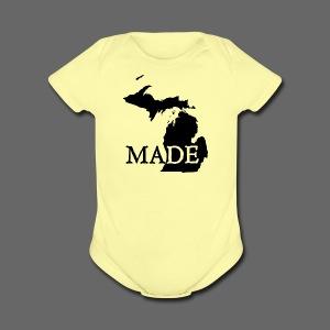 Michigan Made - Short Sleeve Baby Bodysuit